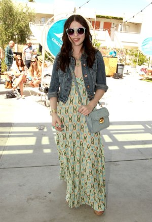 MICHELLE TRACHTENBERG at Burton Snowboards Coachella Pool Party